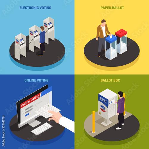 Photo Elections Concept Icons Set