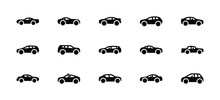Motor Vehicles Solid Icons