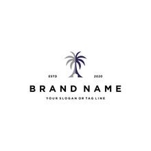 Home And Palm Trees Logo Desig...