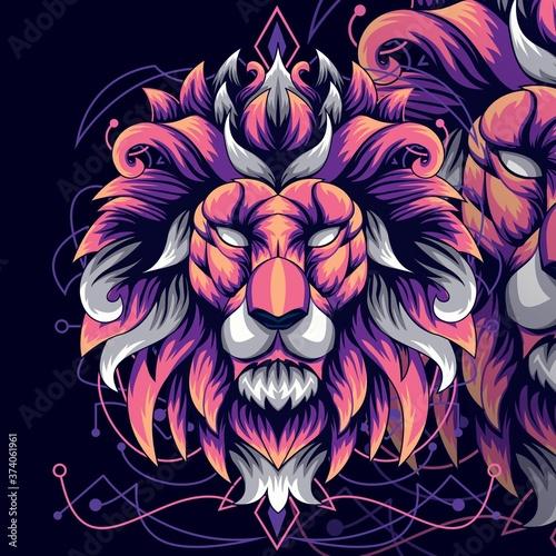 Lion classic art Tapéta, Fotótapéta