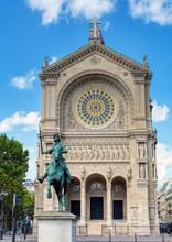 Saint-Augustin Church And Eque...