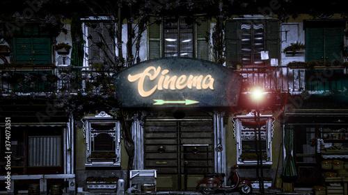 Платно Street Sign to Cinema