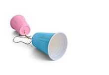 Comunication Pink & Blue Plast...