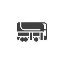 Double Decker Bus Vector Icon....