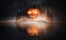 Abstract Fantasy Halloween Bac...