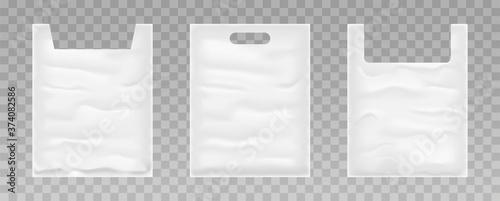 Tablou Canvas Set of plastic bags on transparent background