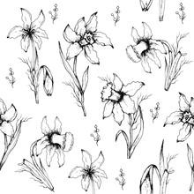 Seamless Wallpaper Of Monochro...