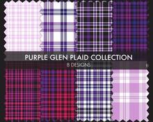 Purple Glen Plaid Tartan Seaml...