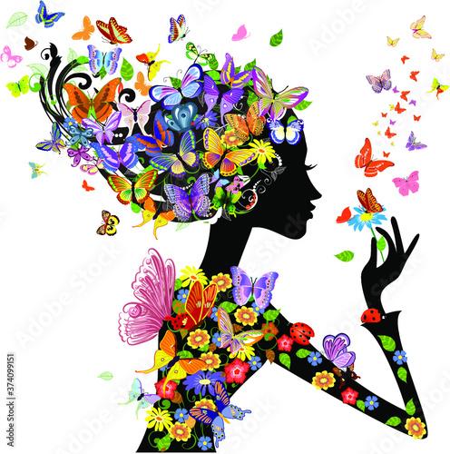 Fototapeta Floral Design.Floral Design Vector. obraz na płótnie