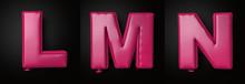 Letter Pink Balloon Font L, M,...