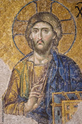 Billede på lærred Mosaico de Jesucristo
