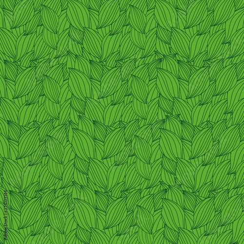 Abstract Leaves, Petals Pattern Background - Springtime, Seasonal Wallpaper Vect Canvas