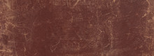 Old Scratched Worn Brown Leather Background And Texture