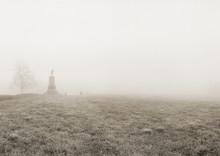 PA Monument In Fog, Gettysburg