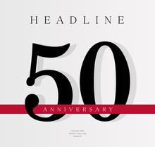 50th Anniversary Banner Templa...