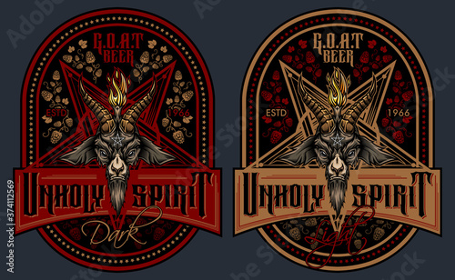 "Fotografia, Obraz ""Unholy Spirit"" - beer label design"