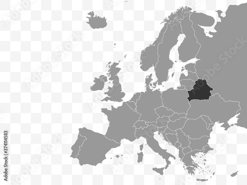 Belarus map - Republic of Belarus. Europe. Vector illustration. Fototapeta