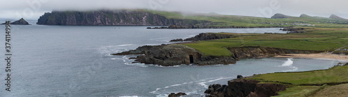 Scenic rural landscape of Slea Head on the Dingle peninsula, west coast of county Kerry in Republic of Ireland Wallpaper Mural