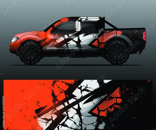 truck and vehicle Graphic vector Fototapeta