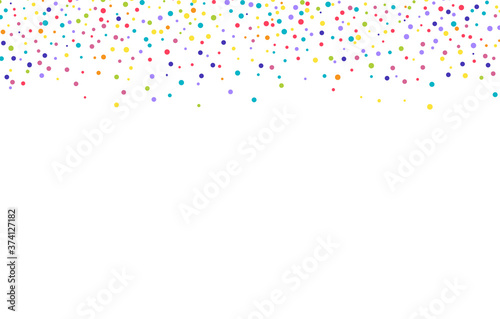 White texture with multi-colored spots and dots Fotobehang