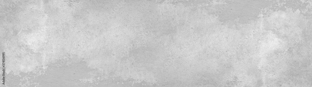 Fototapeta Grey gray white stone concrete texture background panorama banner long