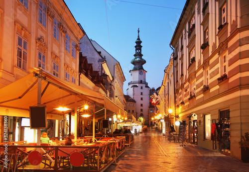 Gate of St. Michael (Michalska Brana) in Bratislava. Slovakia Canvas