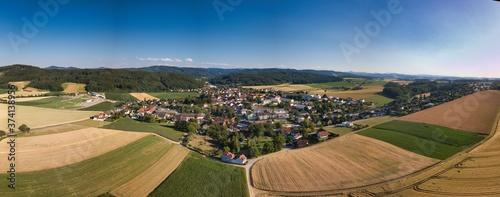 Fotografiet Luftbild von Pyhra, Niederösterreich
