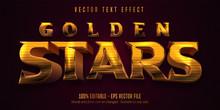 Golden Stars Text, Shiny Golde...