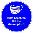 canvas print picture - shas654 SignHealthAndSafety shas - german text - Maske Gebotszeichen - Bitte beachten Sie die Maskenpflicht. - xxl g9900