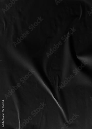Fotografija Black Crumpled Paper texture