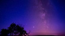 Starry Night Sky. Milky Way An...
