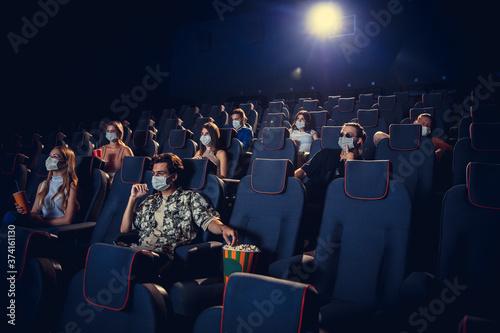 Cinema, movie theatre during quarantine Wallpaper Mural