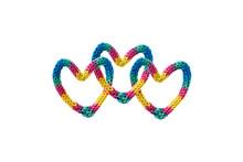 Três Corações Multicolorido...