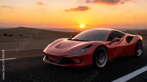 Ferrari F8 Tributo Tableau sur Toile