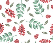 Autumn Leaves Seamless Pattern...