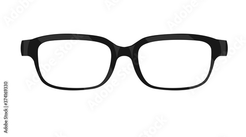 Vector Isolated Illustration of Black Glasses Fototapete