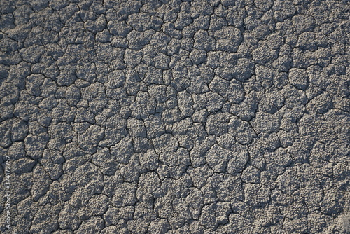 Photo cracked soil background texture
