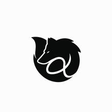 Alpha Wolf Symbol Logo Vector ...