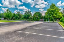 Empty Business Parking Lot Dur...