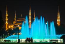 Night Scene In Sultanahmet Wit...