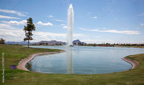 Fountain Hills famous fountain in 2013 Canvas Print