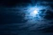 Leinwandbild Motiv night sky with clouds