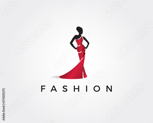 minimal fashion logo template - vector illustration Fototapeta