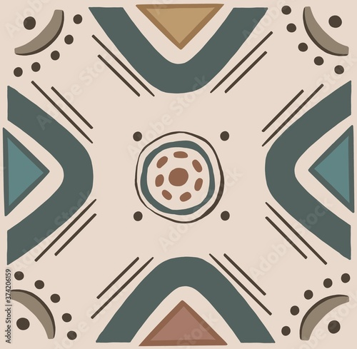 pattern ethnic motifs geometric seamless background. geometric shapes sprites tribal motifs clothing fabric textile print traditional design with triangles.High quality illustration