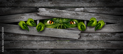 Papel de parede Halloween Monster Background