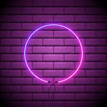 Violet Glowing Circle Vector B...