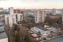 Autumn Urban Landscape Of The Sleeping Area Of St. Petersburg With
