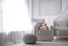 Baby Room Interior With Comfor...