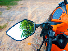 Shadow In Motorcycle Side Mirror