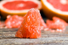 A Piece Of Peeled Grapefruit